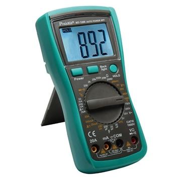 Εικόνα της Πολυμετρο Ψηφιακο Basic Θηκη  Buzzer  Θερμομετρο (20A) Mt-1280 S/Pro