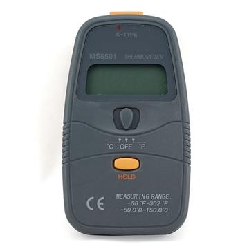 Εικόνα της Θερμομετρο Ψηφιακο MS6500 K-THERMO COUPLE με Data hold