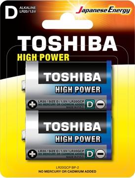 Εικόνα της ΜΠΑΤΑΡΙΑ D HIGH POWER ΧΟΝΔΡΗ LR20GCP BP-2 TOSHIBA