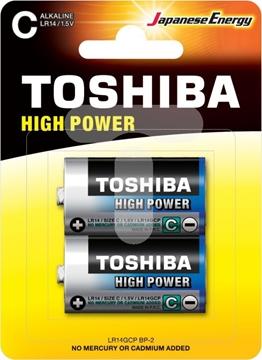 Εικόνα της ΜΠΑΤΑΡΙΑ C HIGH POWER ΜΕΣΑΙΑ LR14GCP BP-2 TOSHIBA