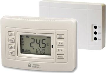 Εικόνα της Bs-820/Kit Ασύρματος Προγραμματιζόμενος θερμοστάτης χώρου Με Έξοδο Για Καυστήρα (Ip20 Δέκτης)