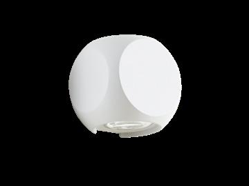 Εικόνα της Απλίκα Δέσμης Αλουμινίου Λευκή Κύβος LED Ballito 4210900 Viokef 4210900