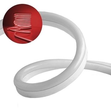 Εικόνα της NEON FLEX LED Λευκή 1m 12W/m 230V 120 SMD/m 2835 SMD 450lm/m 120° Αδιάβροχη IP66 Κόκκινο Dimmable GloboStar 22503