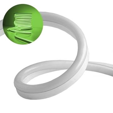 Εικόνα της NEON FLEX LED Λευκή 1m 12W/m 230V 120 SMD/m 2835 SMD 450lm/m 120° Αδιάβροχη IP66 Πράσινο Dimmable GloboStar 22504