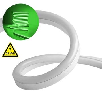 Εικόνα της NEON FLEX LED Λευκή 1m 12W/m 24V 120 SMD/m 2835 SMD 450lm/m 120° Αδιάβροχη IP66 Πράσινο Dimmable GloboStar 22622