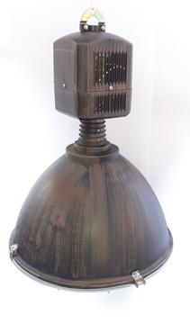 Εικόνα της Φωτιστικό Καμπάνα Βιομηχανικού Τύπου E27 ή Ε40 Φ48 Καφέ Σκουριά