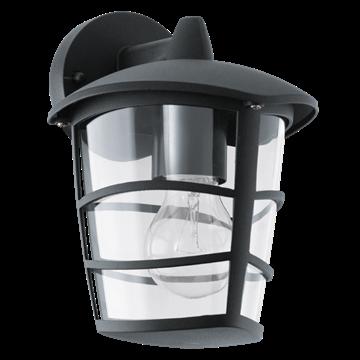 Εικόνα της Απλίκα εξωτερική E27 αλουμίνιο μαύρο πλαστικό IP44 Aloria Eglo