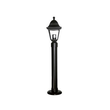 Εικόνα της Φωτιστικό Μονόφωτο Κολωνάκι Φανάρι Μαύρο Πλαστικό IP23 E27 Lp-510Εb 10-0101 Heronia