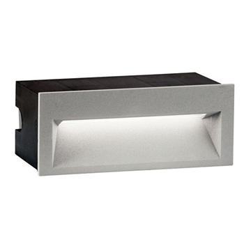 Εικόνα της Απλίκα Χωνευτή Αλουμινίου Γκρι LED Theta 4198900 Viokef