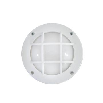 Εικόνα της Φωτιστικό Μονόφωτο Χελώνα Εξωτερικού Χώρου Πλαστικό Λευκό IP44 GX-53 Slp-10Β 13-0058 Heronia