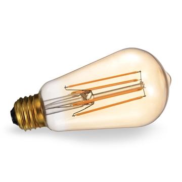 Εικόνα της Λάμπα led ST64 4w Ε27 filament διάφανη 2700Κ Lambario