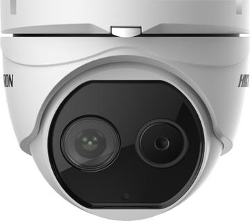 Εικόνα της Hikvision Θερμογραφική κάμερα ανίχνευσης θερμοκρασίας σώματος με απόκλιση ± 0,5 βαθμών κελσίου IP Dome 6mm DS-2TD1217B-6/PA(B)