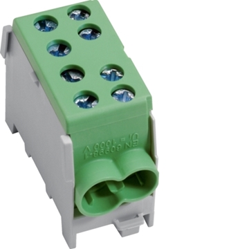 Εικόνα της Ακροδέκτες Πολλαπλής Σύνδεσης 1Ρ Πράσινο 2X35/2X25Μμ2 Hager