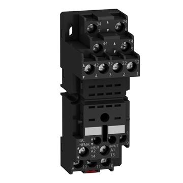 Εικόνα της Zelio Relay βυσματωτή βάση RGZ - μικτές επαφές - 10A - 250V -με βίδες για RPM2/4