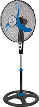 Εικόνα της IQ VSF-48-Ανεμιστήρας Ορθοστάτης Πλαστικός 45cm 70W Μαύρος με Μπλέ Ρουά Φτερά