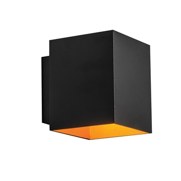 Εικόνα της Απλικα Αλουμινίου Επίτοιχη IP20 G9 Max 40W Μαυρο-Χρυσο Vk/03073Wa/Bgd VK Lighting 75169-221108