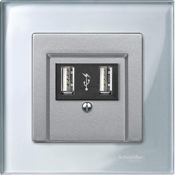 Εικόνα της Merten M-Elegance Glass πλαίσιο 1 θέσης Diamond silver