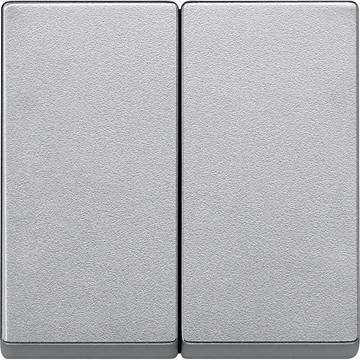 Εικόνα της Merten M-Plan πλακίδιο 2 πλήκτρων Αλουμίνιο