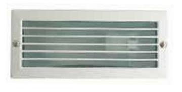 Εικόνα της Απλίκα Τοίχου Χωνευτή Με Περσίδες &  Γυαλί Ματ 1503 BRICK Λευκή NB Lighting