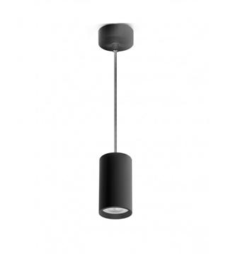 Εικόνα της Φωτιστικό Κρεμαστό Μονόφωτο 100mm Μαύρο/Αλουμίνιο GU10 Lambario