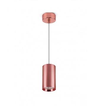 Εικόνα της Φωτιστικό Κρεμαστό Μονόφωτο 100mm Ροζ Χρυσό/Αλουμίνιο GU10 Lambario