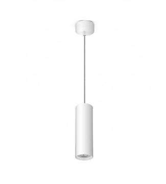 Εικόνα της Φωτιστικό Κρεμαστό Μονόφωτο 200mm Λευκό/Αλουμίνιο GU10 Lambario