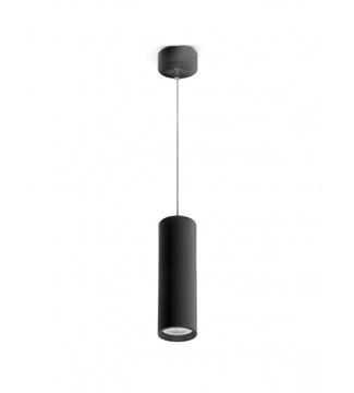 Εικόνα της Φωτιστικό Κρεμαστό Μονόφωτο 200mm Μαύρο/Αλουμίνιο GU10 Lambario