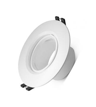 Εικόνα της Φωτιστικό Σποτ Μονόφωτο Στρογγυλό Λευκό GU5.3 Lambario