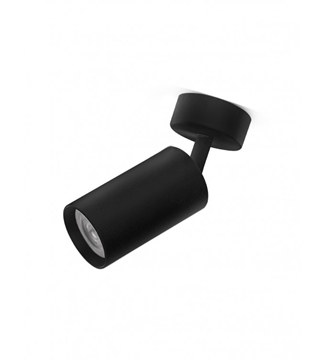Εικόνα της Φωτιστικό Σποτ Επίτοιχο Μονόφωτο 10cm Αλουμίνιο/Μαύρο GU10 Lambario