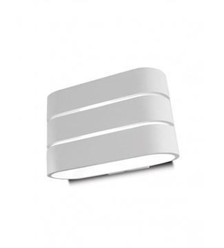 Εικόνα της Φωτιστικό LED Απλίκα Αλουμίνιο/Λευκό 2x3W 4200K Lambario