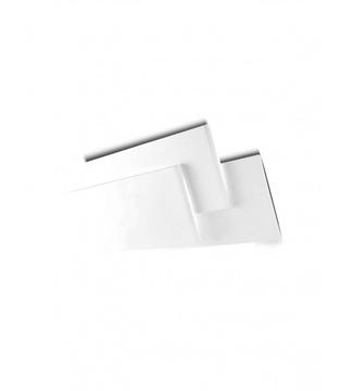 Εικόνα της Φωτιστικό LED Απλίκα Ορθογώνιο Αλουμίνιο/Λευκό 12W 4200K Lambario