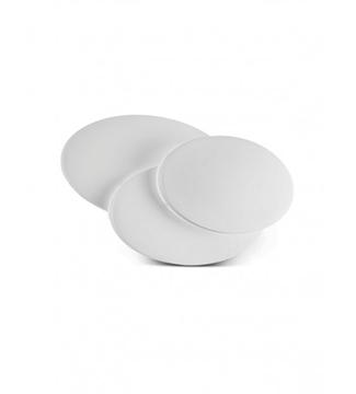 Εικόνα της Φωτιστικό LED Απλίκα Στρογγυλό Αλουμίνιο/Λευκό 12W 4200K Lambario