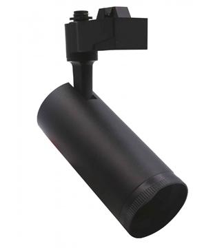 Εικόνα της Σποτ Ράγας LED Φ65mm Μαύρο 20W 1600Lm 3000K Lambario