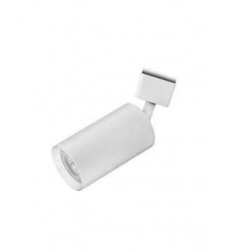 Εικόνα της Σποτ Ράγας Μονόφωτο 10cm Αλουμίνιο/Λευκό GU10 Lambario