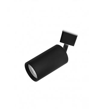 Εικόνα της Σποτ Ράγας Μονόφωτο 10cm Αλουμίνιο/Μαύρο GU10 Lambario