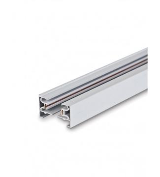 Εικόνα της Ράγα Φωτισμού Αλουμινίου Λευκή 1m Για Φωτιστικά Ράγας 2 Καλωδίων Lambario