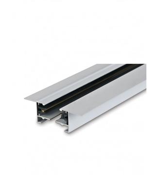 Εικόνα της Ράγα Φωτισμού Αλουμινίου Χωνευτή Λευκή 3m Για Φωτιστικά Ράγας 2 Καλωδίων Lambario