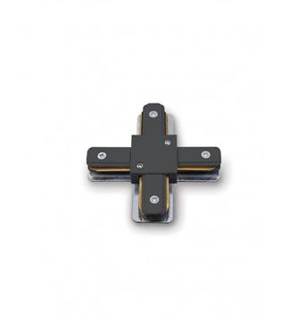 Εικόνα της Σύνδεσμος Ράγας Φωτισμού Τύπου Σταυρός Μαύρος 2 Καλωδίων Lambario