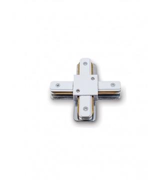 Εικόνα της Σύνδεσμος Ράγας Φωτισμού Τύπου Σταυρός Λευκός 2 Καλωδίων Lambario