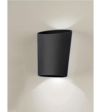 Εικόνα της Φωτιστικό Απλίκα LED Μαύρο/Αλουμίνιο 2x3W 4200K 390Lm IP65 Lambario