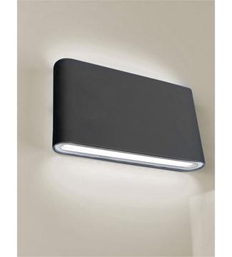 Εικόνα της Φωτιστικό Απλίκα LED Μαύρο/Αλουμίνιο 6W 4200K 390Lm IP65 Lambario