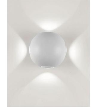 Εικόνα της Φωτιστικό Απλίκα Σφαίρα LED Λευκό/Αλουμίνιο 4x1W 4200K 260Lm IP65 Lambario