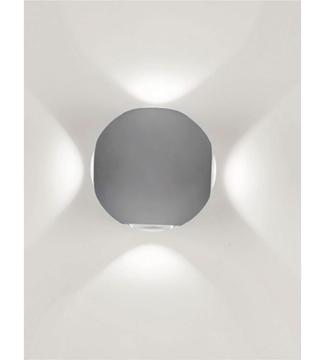 Εικόνα της Φωτιστικό Απλίκα Σφαίρα LED Γκρί/Αλουμίνιο 4x1W 4200K 260Lm IP65 Lambario
