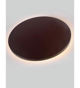 Εικόνα της Φωτιστικό Απλίκα Επίτοιχη Καφέ/Αλουμίνιο 9W 4200K 585Lm IP65 Lambario