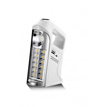 Εικόνα της Φακός LED Επαναφορτιζόμενος Λευκός Με Χειρολαβή 7W 6400K 10Hours Lambario