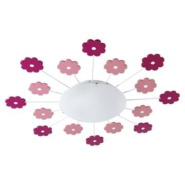 Εικόνα της Πλαφονιερα1 E27 Pink/Λευκο Viki 1 92147 Eglo