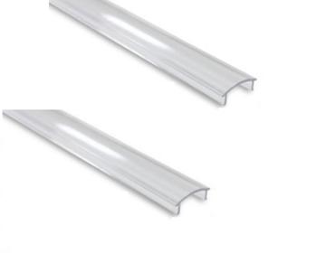 Εικόνα της Καπάκι Διάφανο Προφίλ Αλουμινίου Ταινίας LED 17.4mm x 7mm Φosme