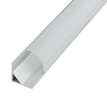 Εικόνα της Καπάκι γαλακτερό Λευκο Ματ για προφίλ αλουμινίου γωνιακό 90 μοιρών 15.8mm x 15.8mm Fosme