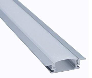 Εικόνα της Προφιλ Αλουμινιου Χωνευτό Για Λεντοταινια 24.7mm x 7mm Fosme
