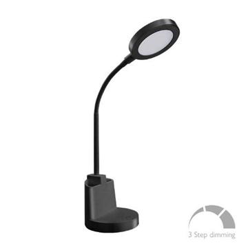 Εικόνα της Φωτιστικό Γραφείου LED 7W 4000K Μαύρο Αφής 420Lm 3stepsDim FOS ME 17-00114-2